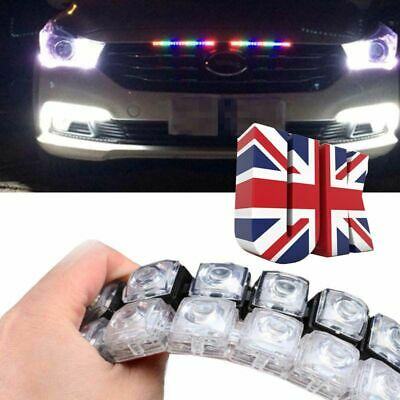 2x Car Daytime Running Lights Auto Flexible LED Strip Turn Signal Lamp Fog Light • 8.39£