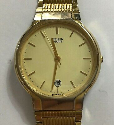Gentlemen's Citizen Gold Plated Quartz Analogue Wristwatch - Working • 25£