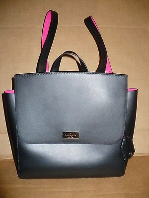 $ CDN267 • Buy KATE SPADE Quincy Putnam Drive NWT Black Pink Leather Backpack Bag Purse