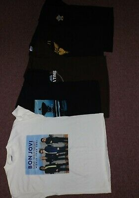 $ CDN99.99 • Buy Vintage Bon Jovi T-shirt Lot Of 5 - Mint Unworn Condition Jon Size XL/2XL