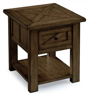$427 • Buy Rectangular End Table In Rustic Pine Finish [ID 3423960]