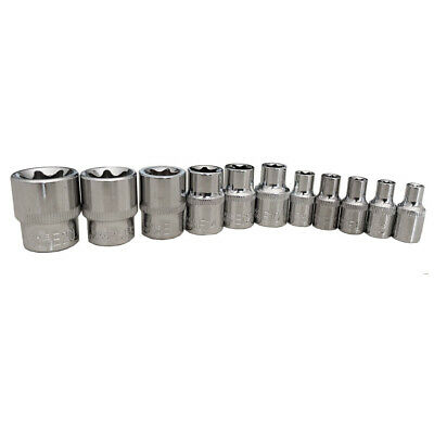 $11.99 • Buy 11pcs E Torx Star Bit Female Socket Set Automotive Shop Tools 1/4 3/8 E4-E20