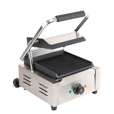 Commercial Panini Press Sandwich Maker Toaster Electric Toastie Grill 1800W Plug • 125.95£