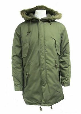 $165.66 • Buy US Army Fishtail Parka, MOD Retro Scooter Genuine M65 Cold Weather Long Jacket
