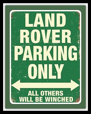 Land Rover Parking Range Rover Evoque Defender Metal Wall Sign Others Listed 582 • 6.99£