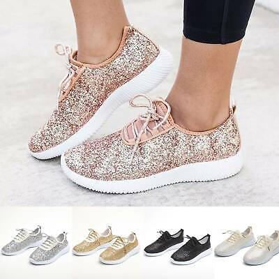 $28.39 • Buy Women Sequin Glitter Sneakers Tennis Lightweight  Walking Athletic Shoes Size US