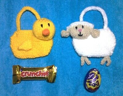 £2.99 • Buy KNITTING PATTERN - Sheep Lamb And Duck Chick Gift Bags Easter Tree Decoration