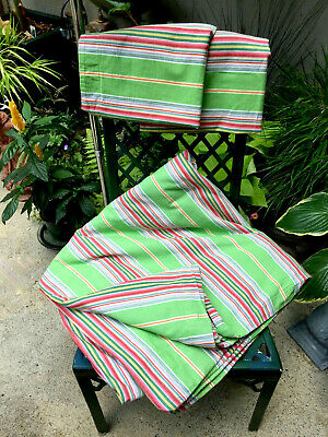 $18.99 • Buy Vtg. Pottery Barn FULL/QUEEN~Canvas Awning Stripe~100% Cotton Duvet+2 SHAMS~EUC