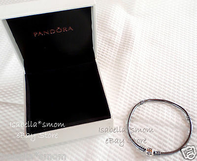NEW Genuine PANDORA Silver OXIDIZED Charms Bracelet 8.3 21cm 590702OX New W BOX • 73.03£