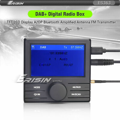 DAB+Radio Tuner Box+TFT LCD Display+FM Transmitter+Bluetooth+Amplified Antenna • 29.77£
