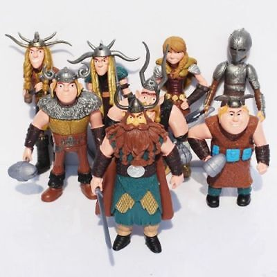 8 Pcs How To Train Your Dragon Figure Hiccup Stoick Astrid Toys Collection Gift • 8.99£