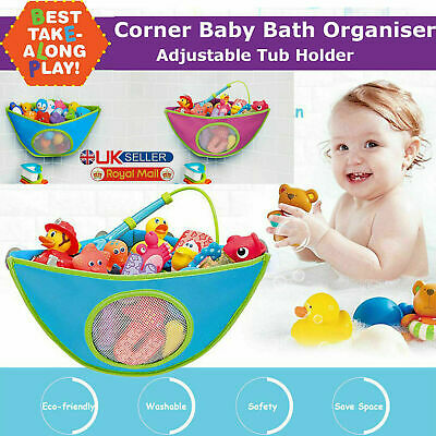 Waterproof Kids Baby Bath Toy Tidy Organiser Mesh Net Storage Bag Pouch Holder • 5.99£