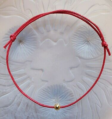 £3.25 • Buy 2 Red String Bracelets Gold Bead Love Luck Japanese Fate Thread Free Post