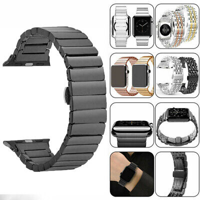$ CDN16.48 • Buy Stainless Steel Watch Strap Wristwatch Band Belt For Apple Watch Series1 2 3 4