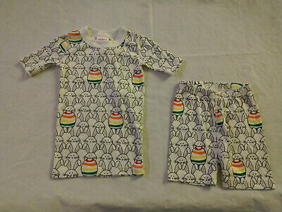 $21.99 • Buy NWT Hanna Andersson Easter Bunny Egg Short John Pajamas PJs 2PC Kids Unisex