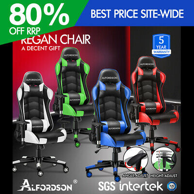 AU189.90 • Buy ALFORDSON Gaming Chair Office Executive Racing Seat PU Leather Computer REGAN