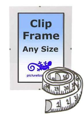 £25.99 • Buy Clip Frame Panoramic Any Size Custom Made From 32  To 10  Frameless Clip Frame