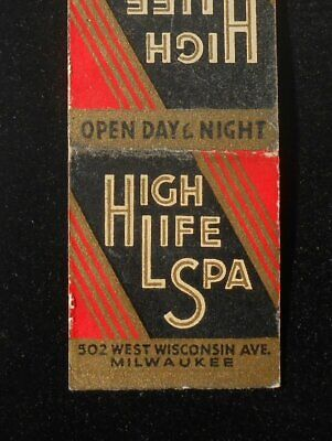 $4.32 • Buy 1930s Miller Beer High Life Spa Tavern 502 West Wisconsin Ave. Milwaukee WI MB