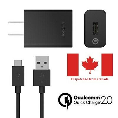 $ CDN5.99 • Buy Sony Xperia Mains Fast Charger + Type-c Usb Cable For Xperia L2 10 Xz M Ultra L1