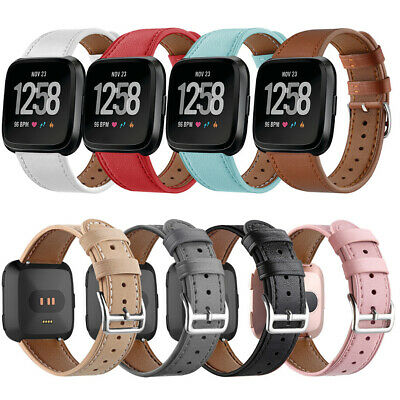 $ CDN13.08 • Buy Genuine Leather Wristwatch Band Replacement Belt Watch Strap For Fitbit Versa