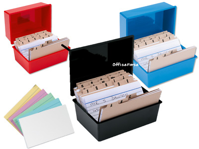 £2.57 • Buy Record Card Boxes~White~Coloured Cards~A-Z Index For The Office~Small-Large Size