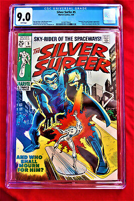 The Silver Surfer***sky-rider Of The Spaceways*** White Pages*** Cgc Grade 9.0 • 102.50$