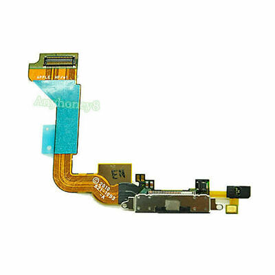 For IPhone 4 Charging Port Dock Block Connector Flex Cable Mic Assembly White • 5.87£