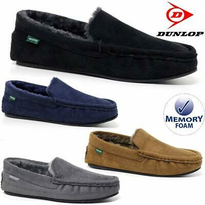 Mens Moccasins Slippers Loafers Faux Suede Sheepskin Fur Lined Winter Shoes Size • 13.95£
