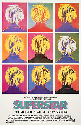 $150 • Buy Superstar: The Life And Times Of Andy Warhol 1991 U.S. One Sheet Poster