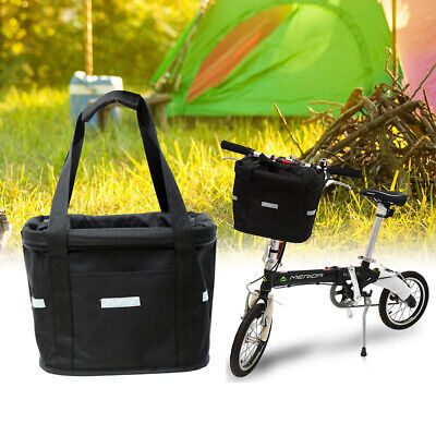 £16.95 • Buy Bicycle Front Basket Storage Bike Cycle Folded Pet Cat Dog Carrier Bag Removable