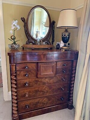 AU1000 • Buy Antique Mahogany Chest Of Drawers. Hey Watchers. Who Wants It?
