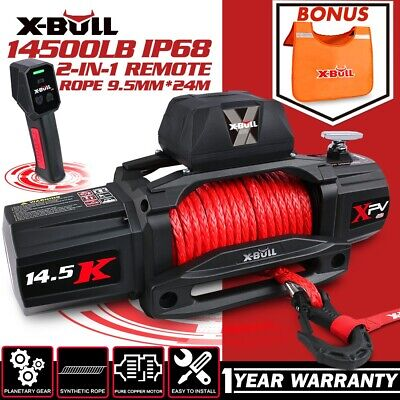AU499.90 • Buy X-BULL 14500LBS  Electric Winch 12V Synthetic Rope Wireless Remote 4WD 4X4 BOAT