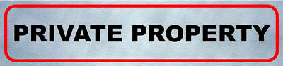 Private Property No Public Right Of Way Sign Warning Notice, Adhesive Sticker • 1.80£