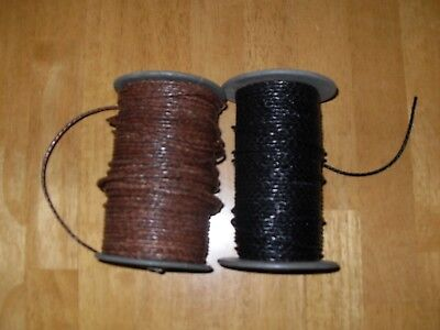 £1.45 • Buy Braided Leather Cord 2mm  Genuine Real Leather Antique Brown & Black