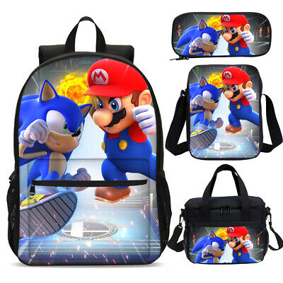 Super Mario & Sonic Olympic Game Backpack Lunch Box Shoulder Bag Pencil Case Lot • 8.99£