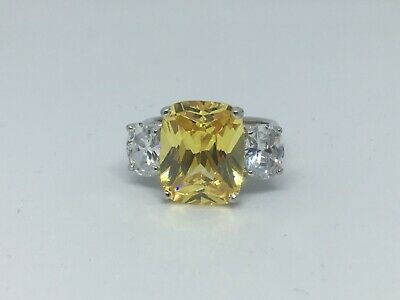 $85 • Buy Charles Winston Sterling Silver Canary & White Cz Ring