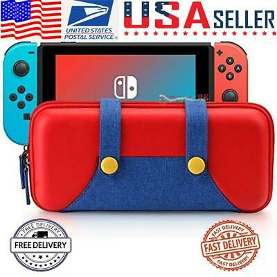 For Nintendo Switch Protective Storage Mario Bag Accessories Carrying Case Cover • 9.88$