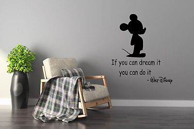 Disney Mickey Mouse If You Can Dream It You Can Do It Wall Art Decal Quote Q113 • 7.97£