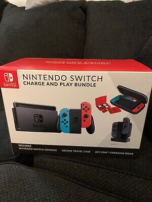 Nintendo Switch Console Carrying Case Controller Charging Dock Bundle NEW Kohls • 310$