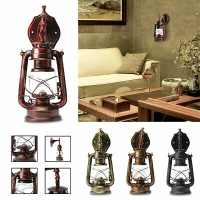 E27 Retro Vintage Antique Rustic Lantern Lamp Wall Sconce Light Fixture Outdoor • 17.08£