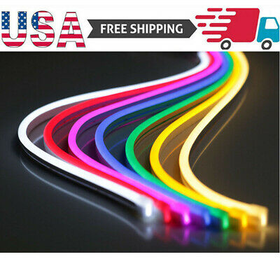 $6.29 • Buy USA DC 12V SMD2835 Flexible LED Strip Waterproof Neon Lights Silicone Tube 3.3ft