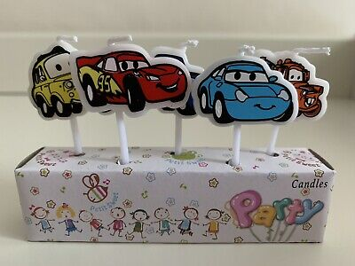 Cars Lightning McQueen Themed Candles Party Birthday Kids  Cake Decorations • 4.99£