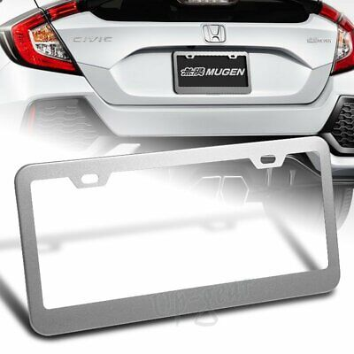 $6.30 • Buy Silver Aluminum Alloy Car License Plate Frame Cover Front Or Rear US Size 1PC