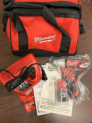 NEW Milwaukee 2463-20 M12 12v Lithium Ion 3/8 In. Impact Wrench Kit • 140$