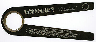 $ CDN140.76 • Buy Vintage Longines Admiral Watch Crystal Remover Inserter Tool Case Opener