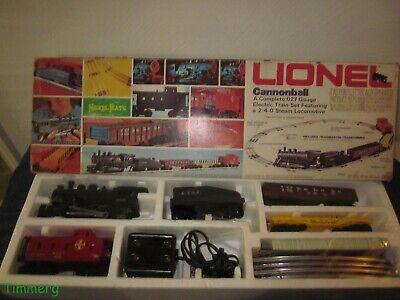 Lionel Trains 6-1381 Canoball Steam Freight Set Complete O-27 Gauge MIB  • 120$