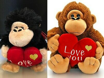 Keel Toys Monkey With Heart Plush Soft Toy 16cm Brand New Free P&P • 7.99£