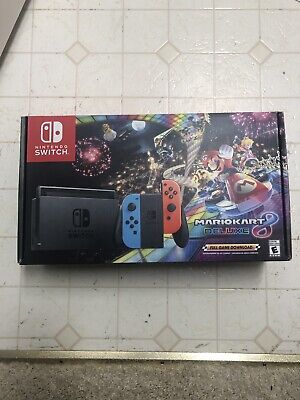 Nintendo Switch With Blue And Red Joy-Con Controllers And Mario Kart 8 Bundle - • 168.50$