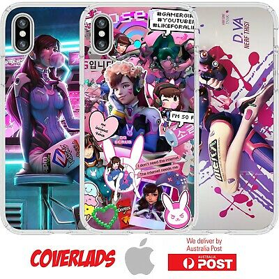 AU16.95 • Buy Silicone Cover Case Overwatch D.va Game Character Cartoon Badass Art - Coverlads
