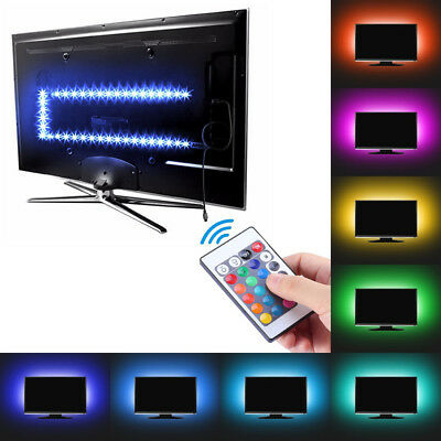 5V 5050 RGB LED Strip Lights Colour Changing USB TV PC Back Mood Lighting Decor • 9.49£